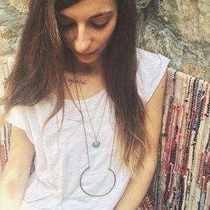 Long Circle Necklace-4642