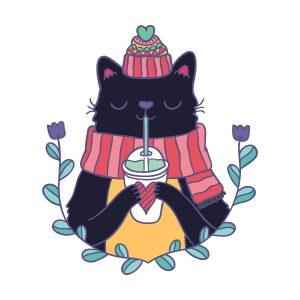 Small Αυτοκόλλητο τοίχου 'Cat'-0