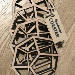 Χειροποίητα Ξύλινα Σουβέρ 'Geometry'-9307